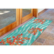 Transocean Cirrus Sea Tree Indoor/Outdoor Rug Aqua 19.5