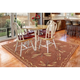 Transocean Mateo Flying Beauty Indoor/Outdoor Rug Red 4'10