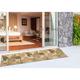 Transocean Highlands Jungle Fronds Indoor/Outdoor Rug Neutral 5'x7'6