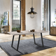 Coronado Contemporary Dining Table in Gray Powder Coated Finish with Cement Gray Top