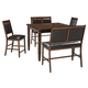 Meredy Counter Height Dining Room Table and Bar Stools (Set of 5)