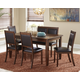 Meredy Dining Room Table and Chairs with Bench (Set of 6)