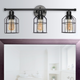 Lalia Home Lalia Home 3 Light Industrial Wired Vanity Light, Matte Black