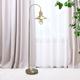 Lalia Home Lalia Home Modern Farmhouse 1 Light Floor Lamp, Antique Brass