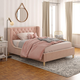 Little Seeds Monarch Hill Ambrosia Pink Full Upholstered Bed