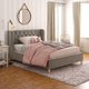 Little Seeds Monarch Hill Ambrosia Gray Full Upholstered Bed