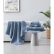 Brooklyn Loom Solid Turkish Cotton 6 Piece Towel Set in Blue