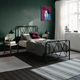 Atwater Living Elianna Metal Farmhouse Bed, Twin Black