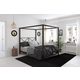 Atwater Living Reese Canopy Bed, Full, Black