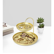 Umbra Poise Two-Tiered Brass Tray