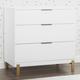 Delta Children Hendrix 3 Drawer Dresser with Changing Top