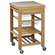 Kitchen Inlaid Granite Top Cart