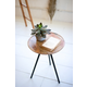 Kalalou Round Mango Side Table with Metal Hairpin Legs