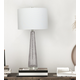 Creative Co-Op Transparent Bubble Glass Table Lamp with Metal Base, Set of 2