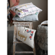 Creative Co-Op Floral Cotton Embroidered Lumbar Pillow