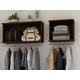 Manhattan Comfort Rockefeller 2-Piece Open Hanging Closet System