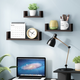 Furinno Indo Wall Mounted Floating Shelves, Espresso, Set of 3