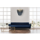 Creative Co-Op Metal Chandelier with Draped Blue Wood Beads