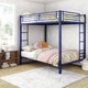 Atwater Living Parker Full over Full Metal Bunk Bed, Blue