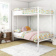 Atwater Living Parker Full over Full Metal Bunk Bed, White
