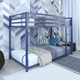 Atwater Living Mason  Metal Twin over Twin Bunk Bed, Blue
