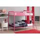 Atwater Living Eeva Twin over Twin Metal Bunk Bed, Pink