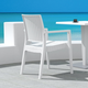 Siesta Outdoor Ibiza Wickerlook Dining Arm Chair White (Set of 2)
