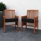 CorLiving Outdoor Hardwood Armchairs (Set of 2)