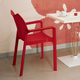 Siesta Outdoor Diva Dining Arm Chair Red (Set of 2)