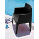 Siesta Outdoor Box Dining Arm Chair Black (Set of 4)