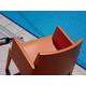 Siesta Outdoor Box Dining Arm Chair Orange (Set of 4)