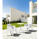 Siesta Outdoor Box Dining Arm Chair White (Set of 4)