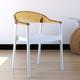 Siesta Outdoor Carmen Modern Dining Chair White Seat Transparent Amber Back (Set of 2)