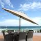 CorLiving 10' Outdoor Tilting Patio Umbrella