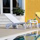 Siesta Outdoor Sundance Pool Chaise Lounge White (Set of 2)
