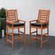 CorLiving Outdoor Hardwood Bar Height Chairs (Set of 2)