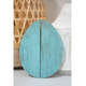 Rustic Farmhouse 6 in. Turquoise Wood Egg