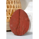 Rustic Farmhouse 6 in. Rustic Red Wood Egg