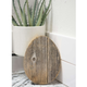 Rustic Farmhouse 6 in. Weathered Gray Wood Egg