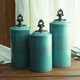 AMERICAN ATELIER Blue Canisters (Set of 3)