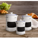 AMERICAN ATELIER Vintage Blue Canister (Set of 3)