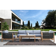 Sienna Outdoor Coffee Table with Teak Finish and Stone Top