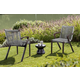 Brielle Outdoor Dark Eucalyptus Wood and Gray Rope Dining Chairs (Set of 2)
