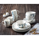 AMERICAN ATELIER Marble White/Blue 16-Piece Dinner Set