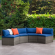 Parksville  Outdoor Patio Sectional Bench Set with Cushion