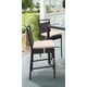 Tropez Outdoor Wicker Barstool with Water Resistant Beige Fabric Cushions