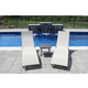 Coral Springs 3-Piece Outdoor Aluminum Lounger Set Pearl