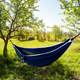 Vivere Outdoor Double Polyester Mesh Hammock Navy and Turquoise