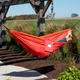 Vivere Outdoor Double Polyester Mesh Hammock Punch and Peach