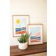 Kalalou Set of Two Seaside Prints Under Glass